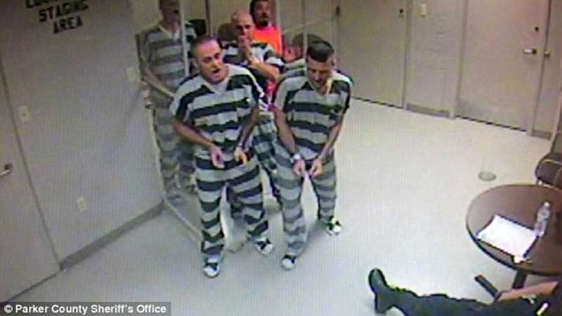 Prisoners are released to SAVE the life of an armed guard who suffered a heart attack