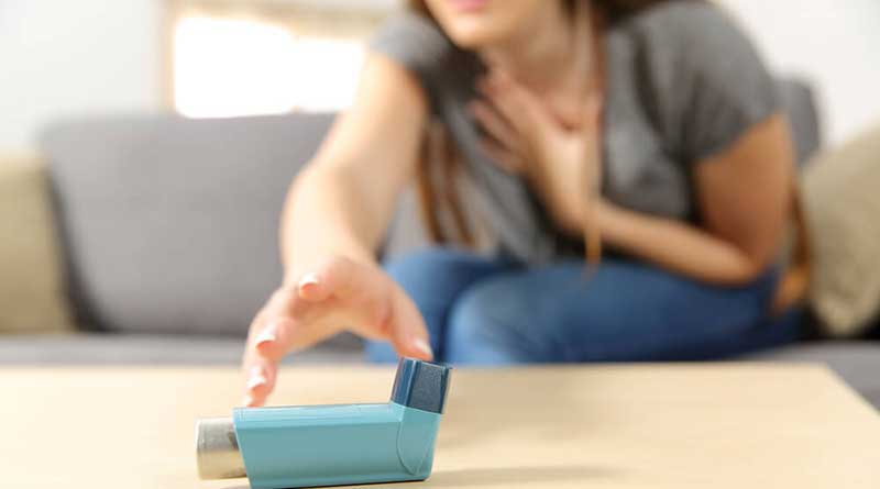 What should not be done during an asthma attack?